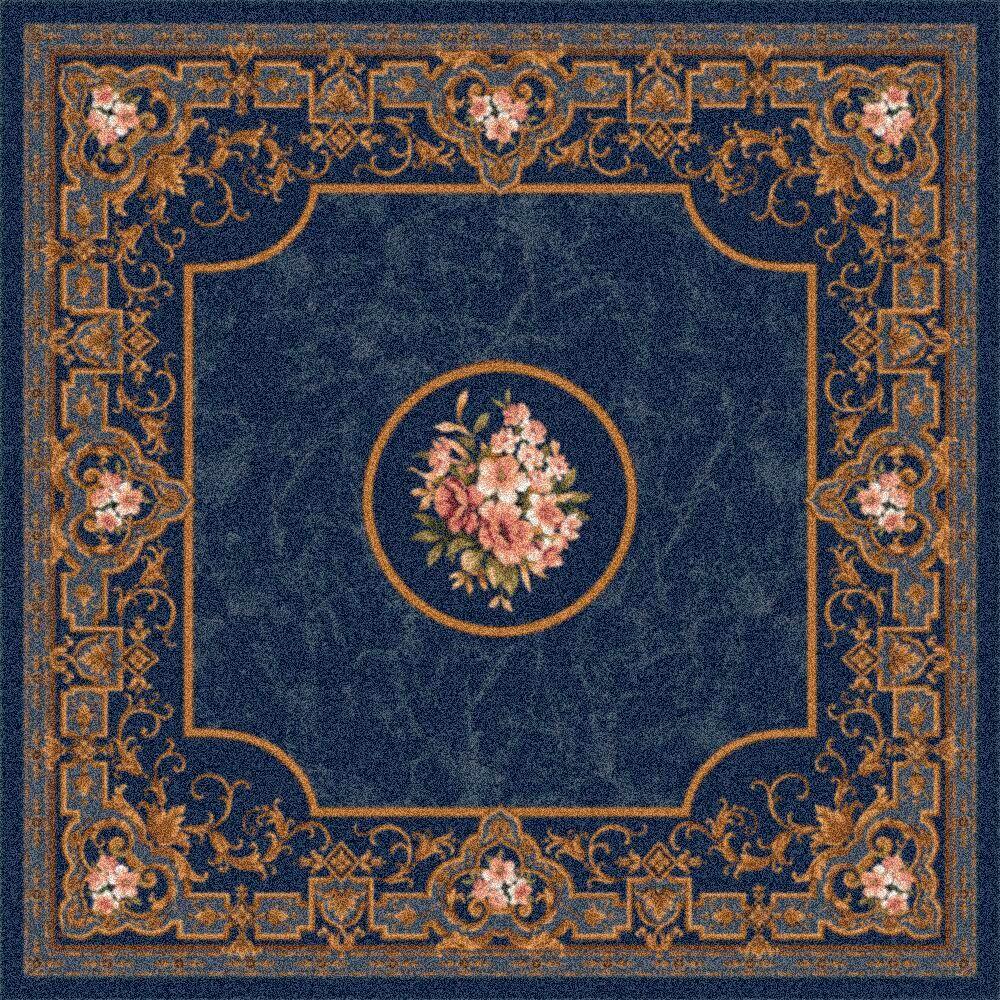 Pastiche Montfluer Phantom Blue Area Rug Rug Size: Rectangle 10'9