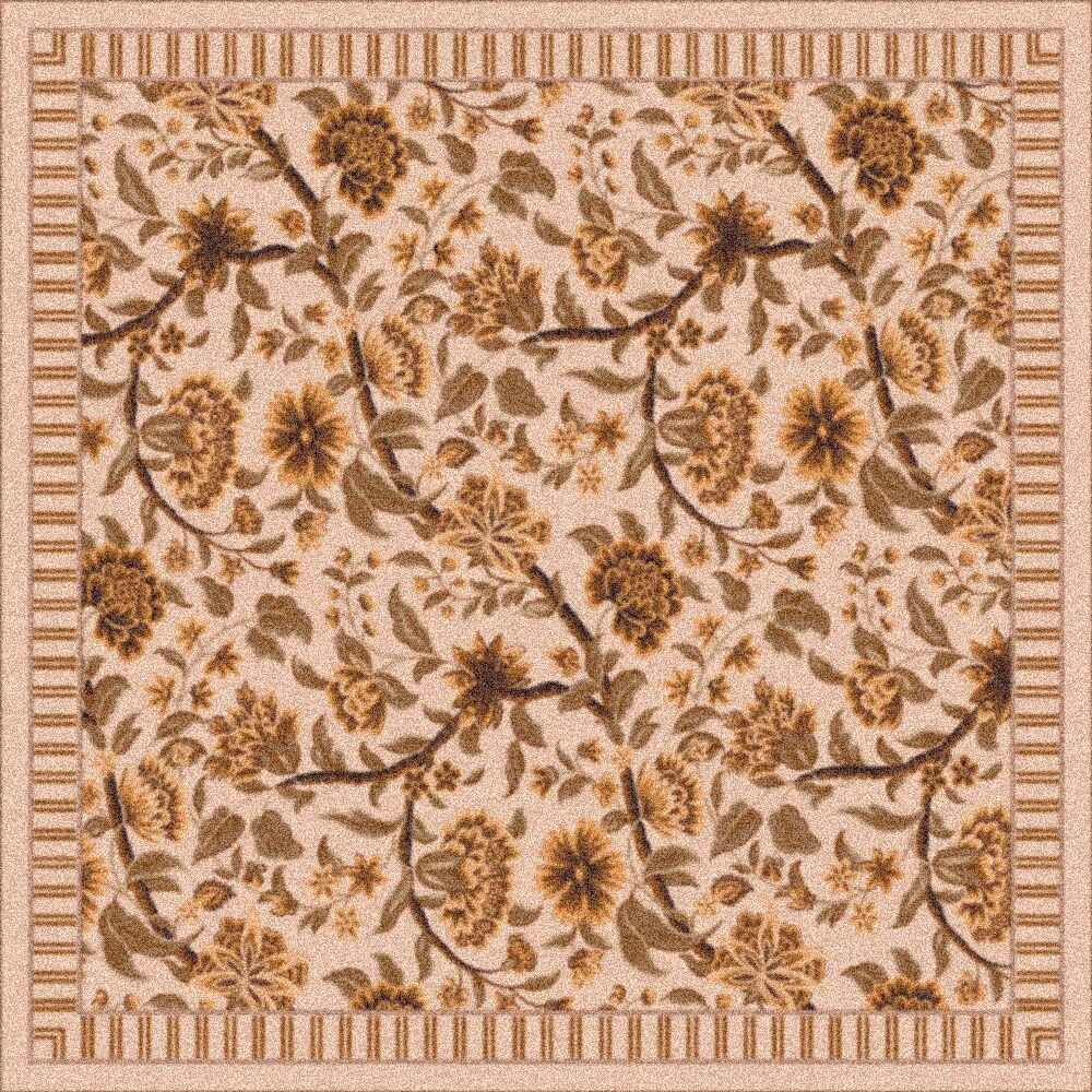 Pastiche Vachell Ecru Brown Area Rug Rug Size: Oval 7'8