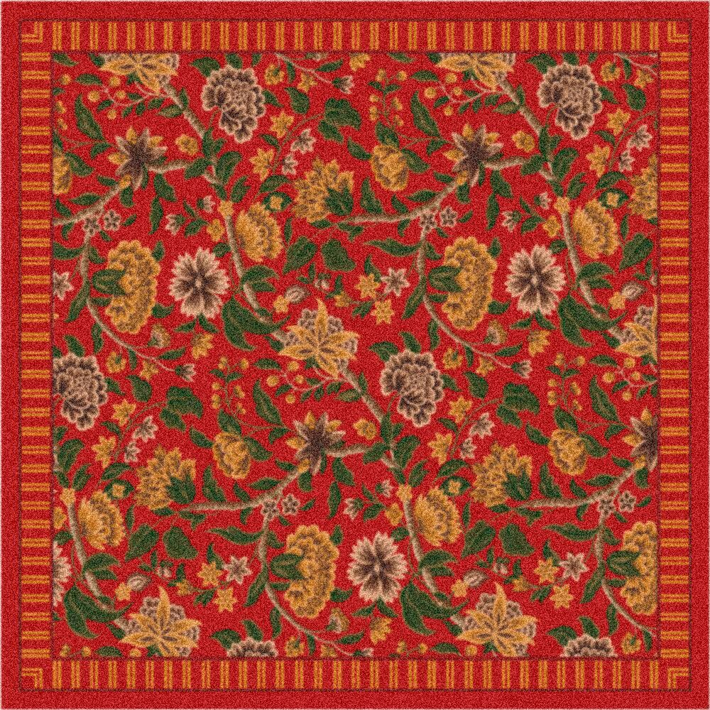 Pastiche Vachell Indian Red Area Rug Rug Size: Square 7'7