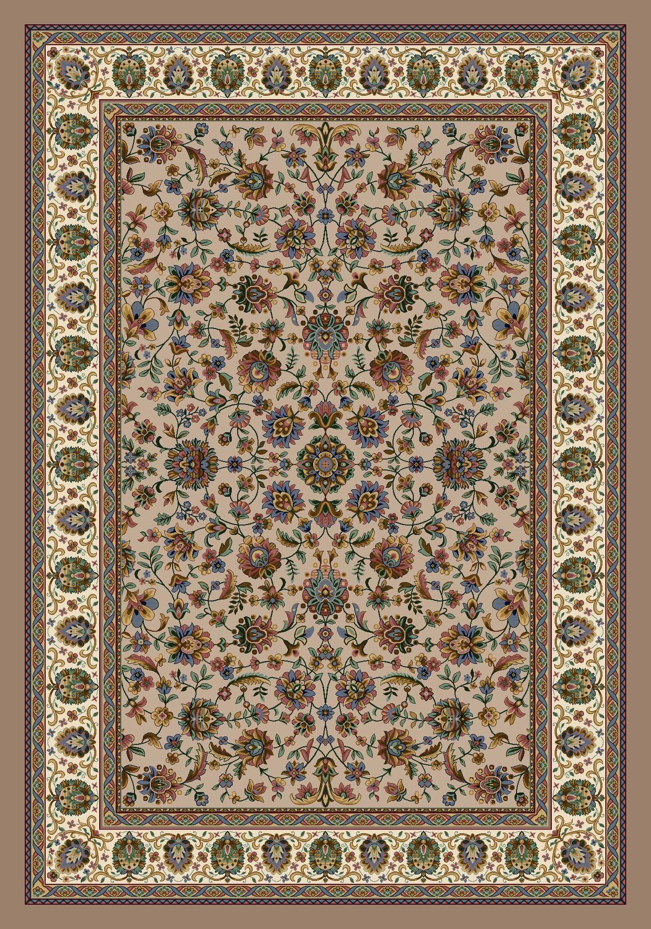 Signature Persian Palace Sandstone Area Rug Rug Size: Rectangle 3'10