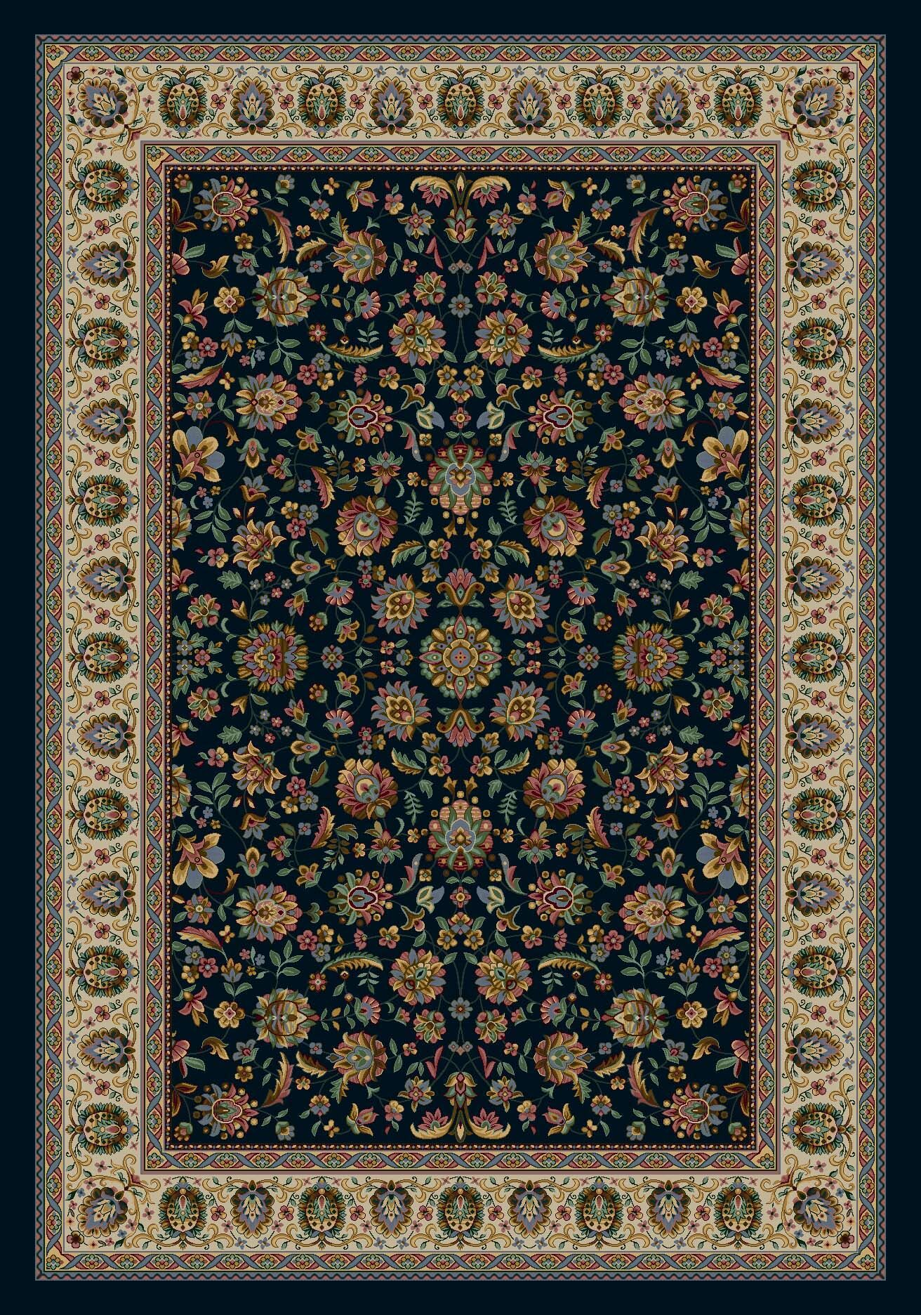 Signature Persian Palace Sapphire Area Rug Rug Size: Round 7'7