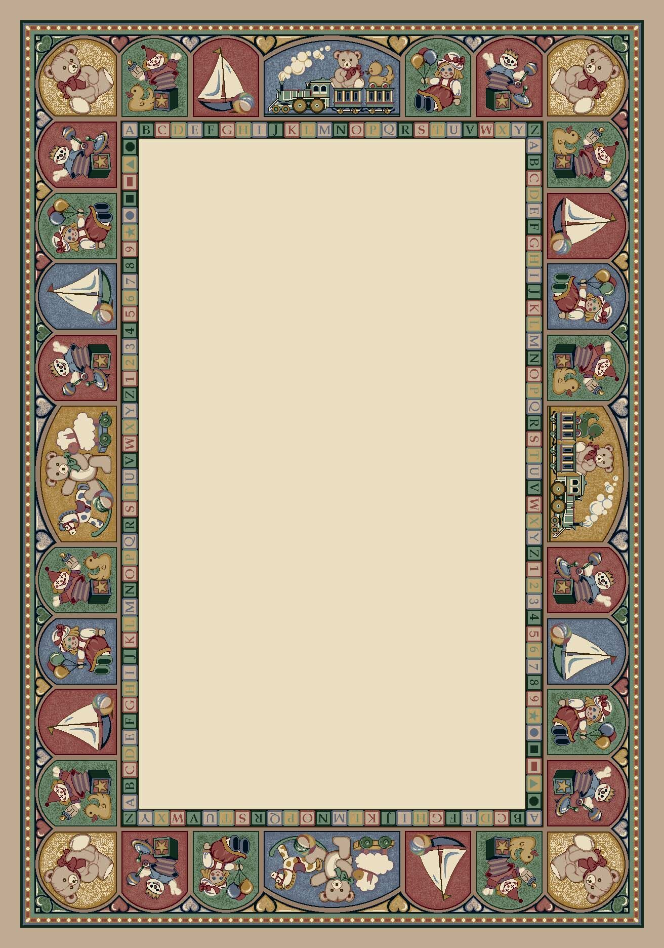 Signature Toy Parade Pearl Mist Area Rug Rug Size: Oval 5'4