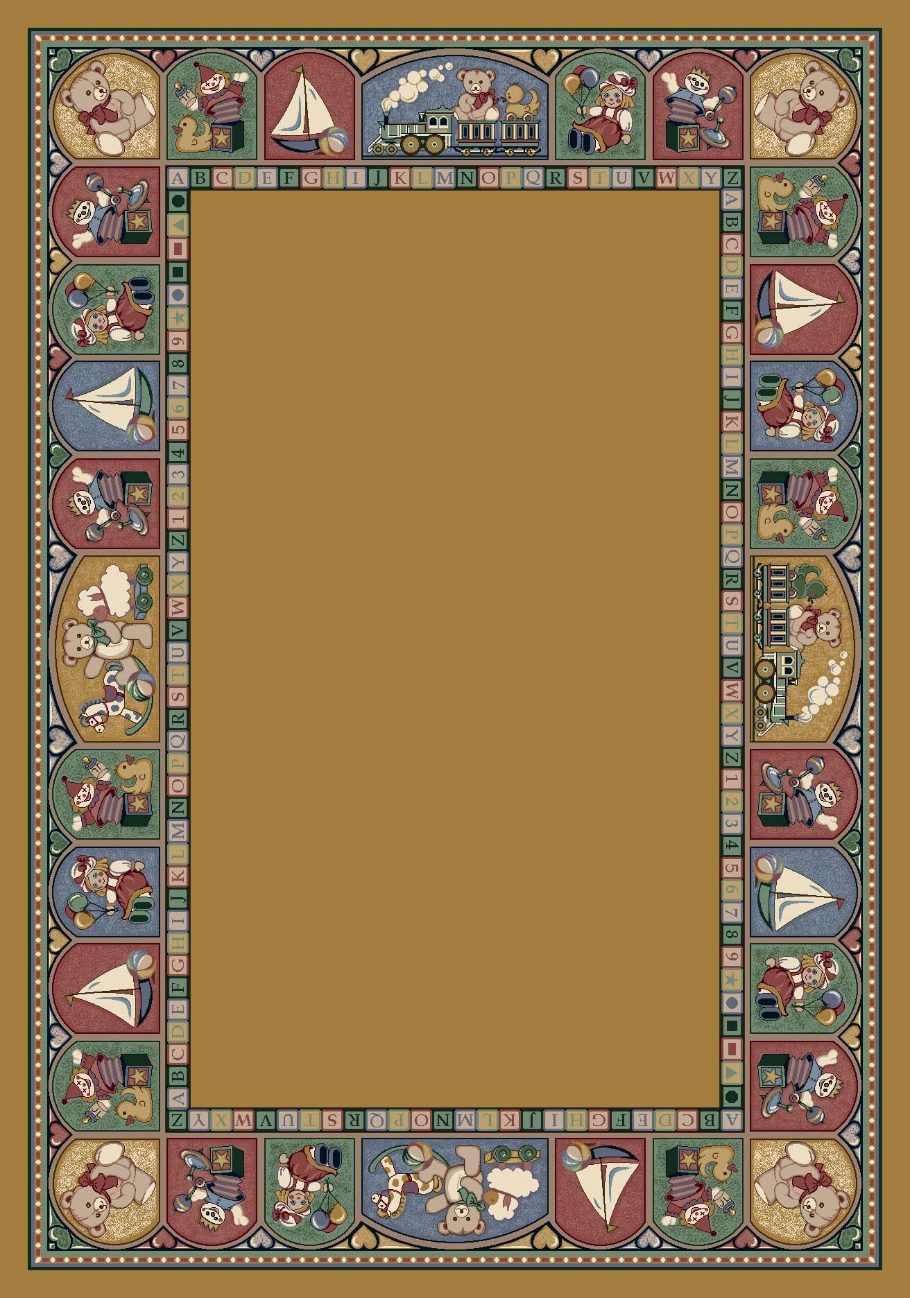 Signature Toy Parade Golden Topaz Area Rug Rug Size: Oval 3'10