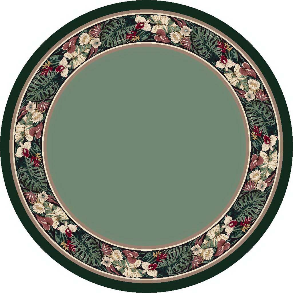 Innovation Peridot Tropical Forest Area Rug Rug Size: Round 7'7