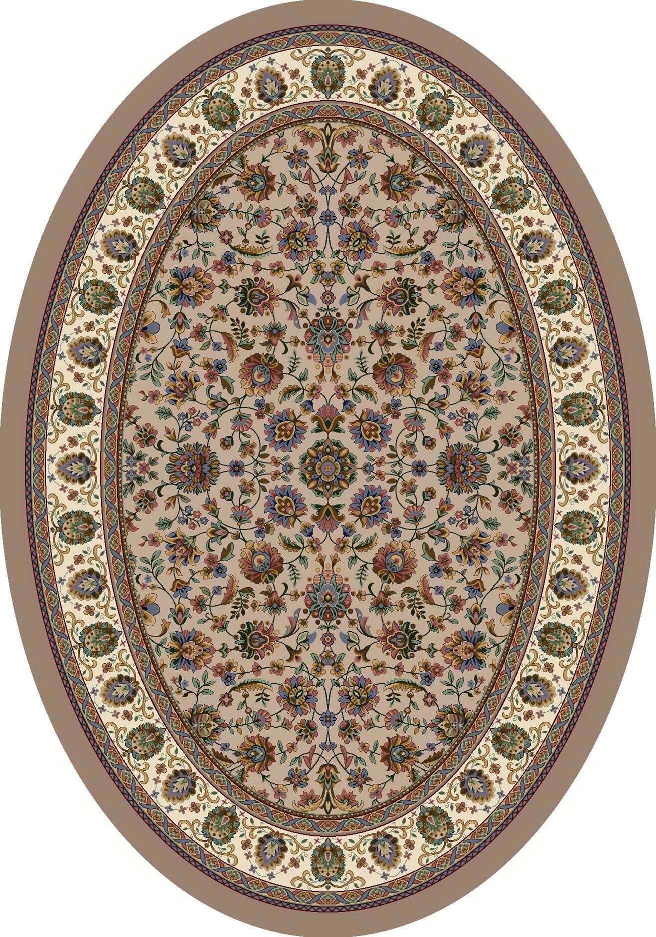 Signature Persian Palace Sandstone Area Rug Rug Size: Oval 3'10