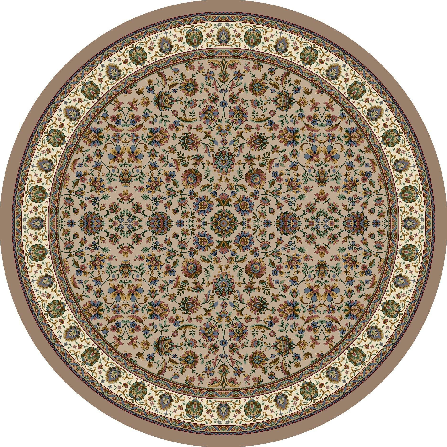 Signature Persian Palace Sandstone Area Rug Rug Size: Round 7'7