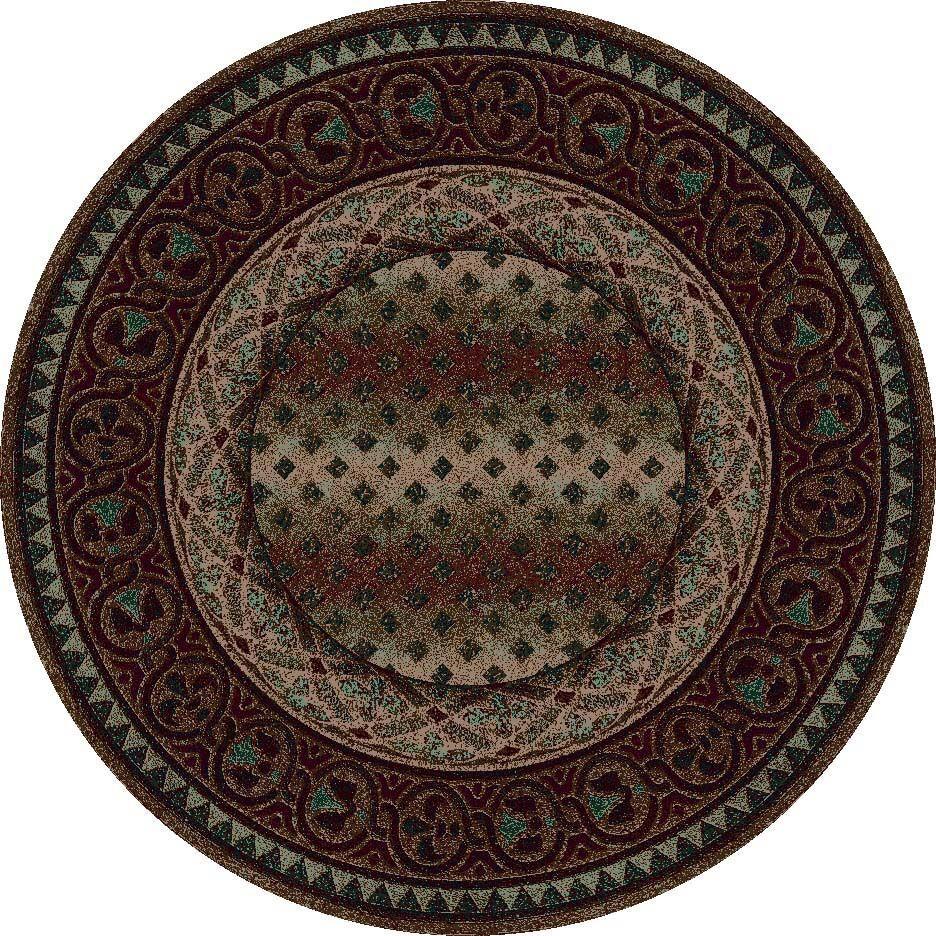 Signature Mohavi Dark Amber Area Rug Rug Size: Round 7'7
