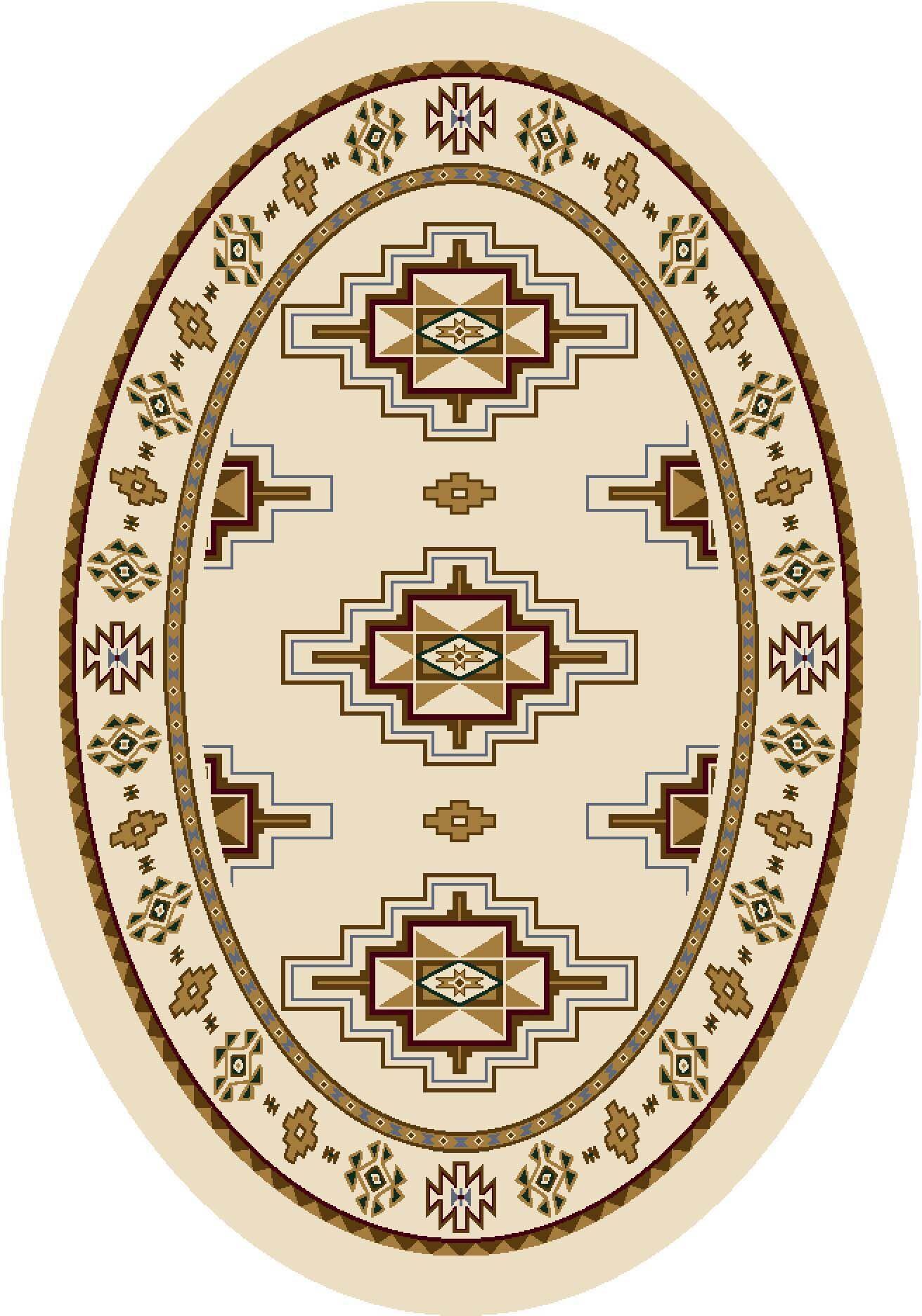 Signature Prairie Star Opal Area Rug Rug Size: Oval 3'10