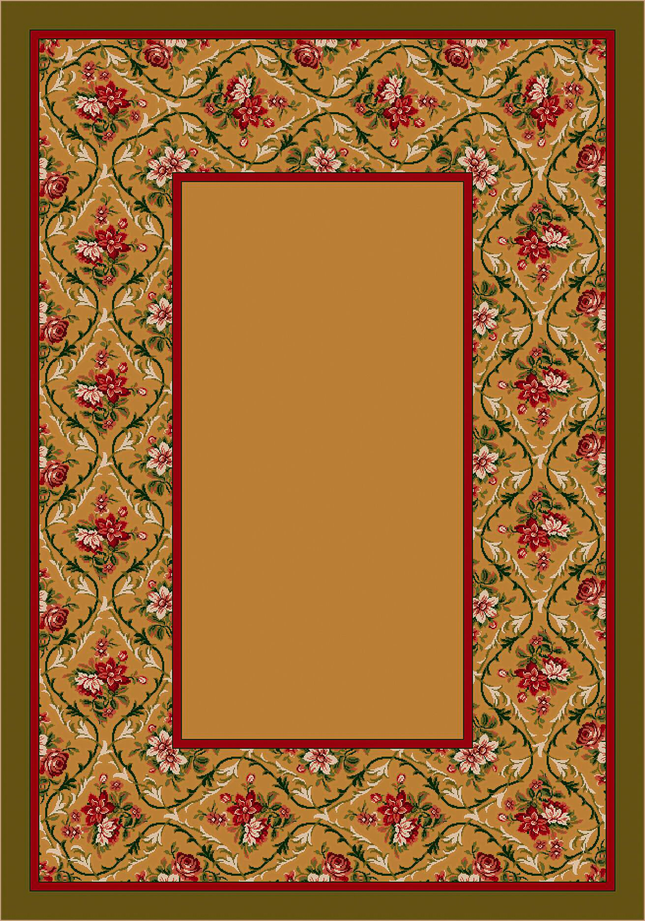 Design Center Maize Bouquet Lace Area Rug Rug Size: Runner 2'4