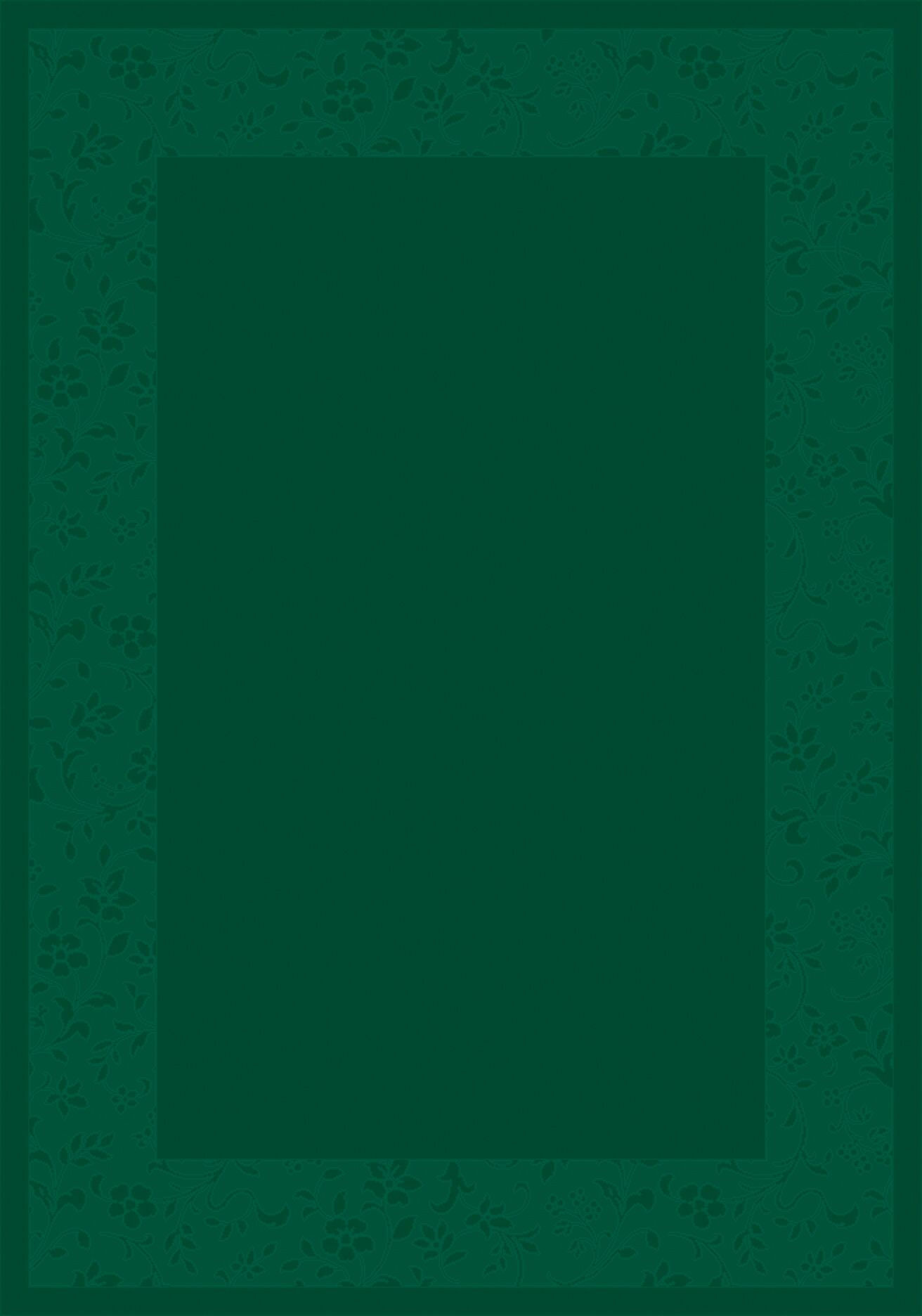 Design Center Emerald Brocade Area Rug Rug Size: Runner 2'4