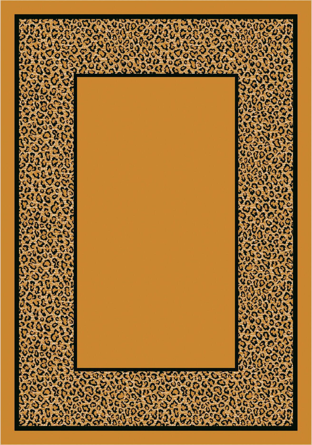Design Center Light Leopard Asmora Area Rug Rug Size: Rectangle 5'4