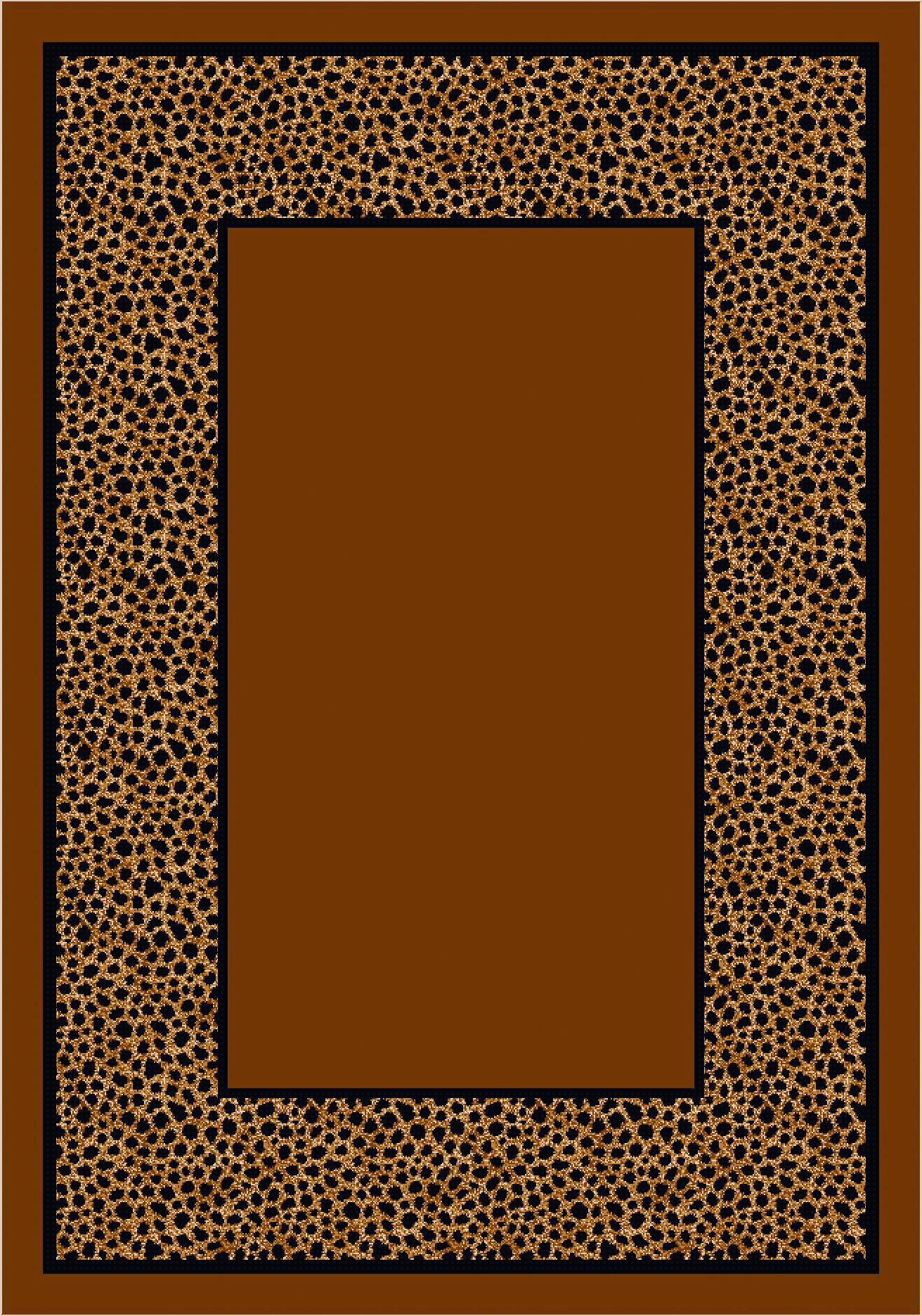 Design Center Brown Simaruba Cheetah Area Rug Rug Size: Round 7'7