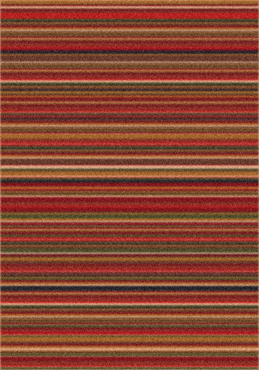 Modern Times Canyon Dark Red Area Rug Rug Size: Rectangle 2'1