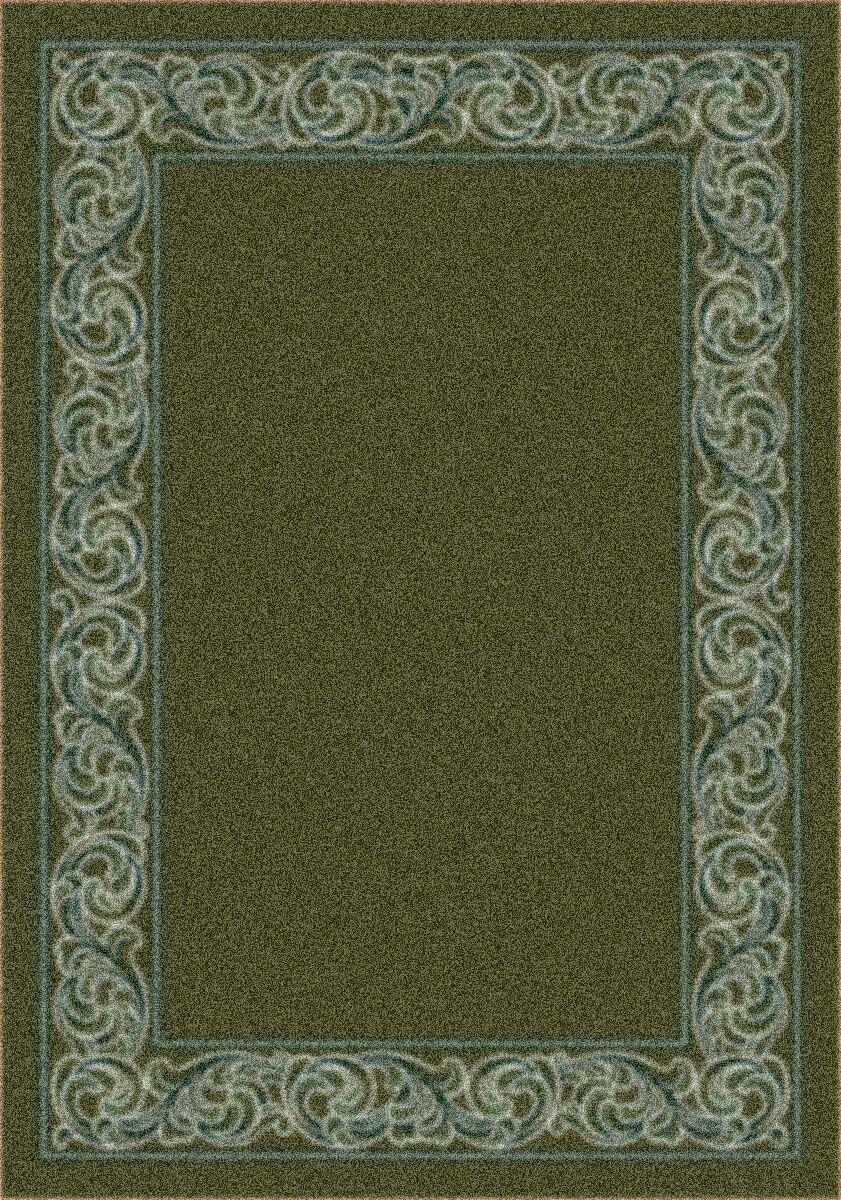 Modern Times Sonata Deep Olive Area Rug Rug Size: Oval 5'4