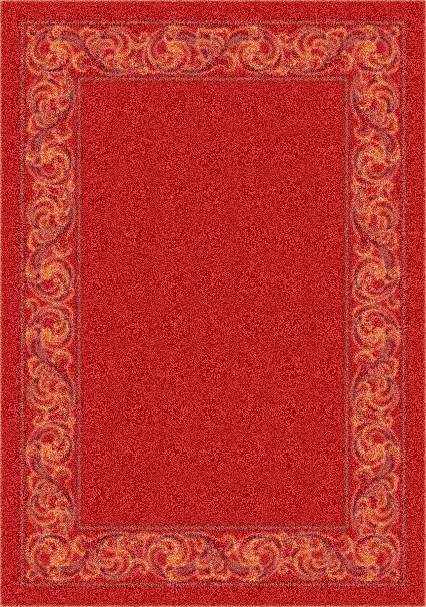 Modern Times Sonata Indian Red Area Rug Rug Size: Oval 5'4