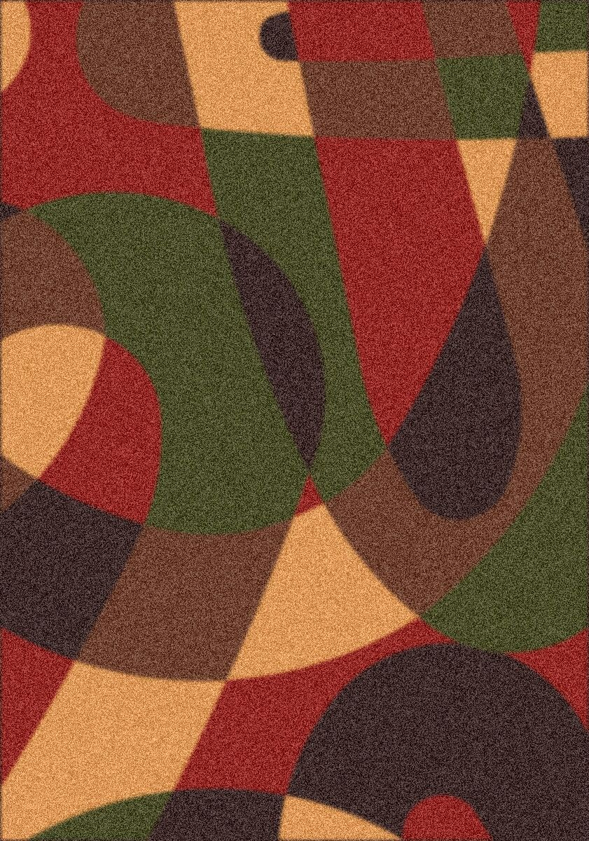 Modern Times Element Russet Area Rug Rug Size: Rectangle 5'4