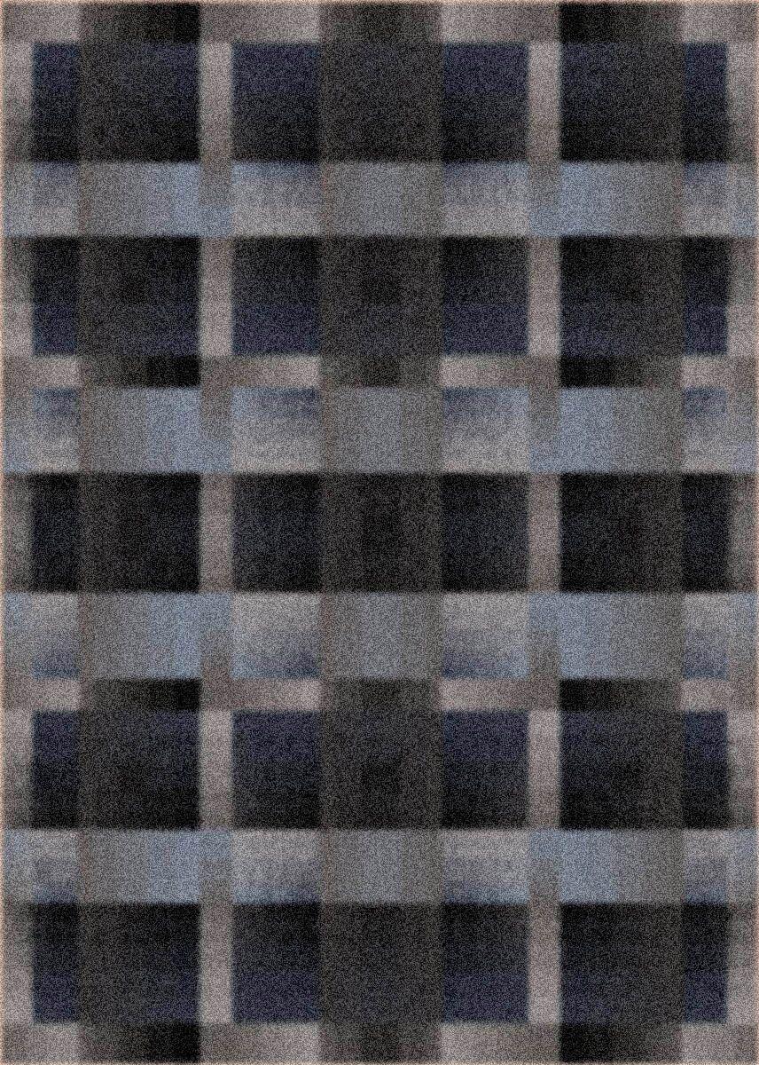 Modern Times Aura Charcoal Area Rug Rug Size: Rectangle 5'4