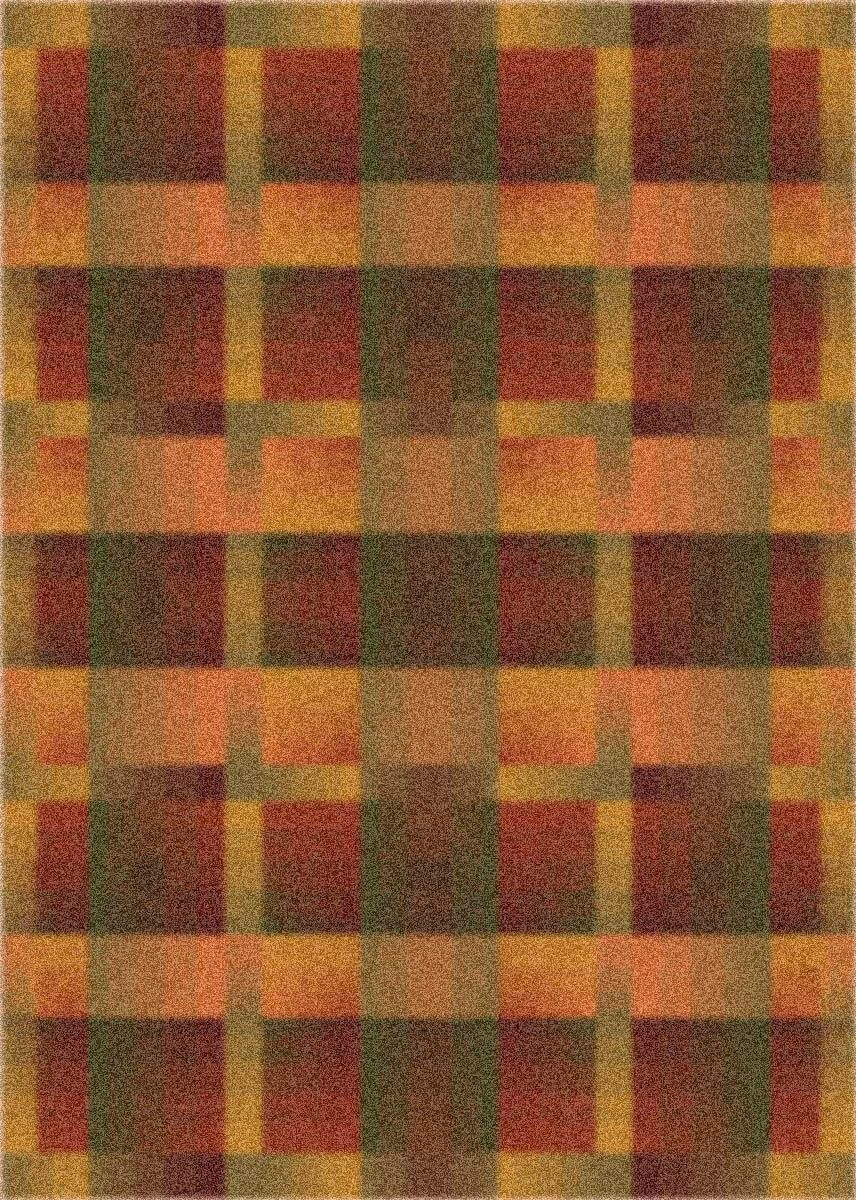 Modern Times Aura Fall Orange Area Rug Rug Size: Rectangle 2'8