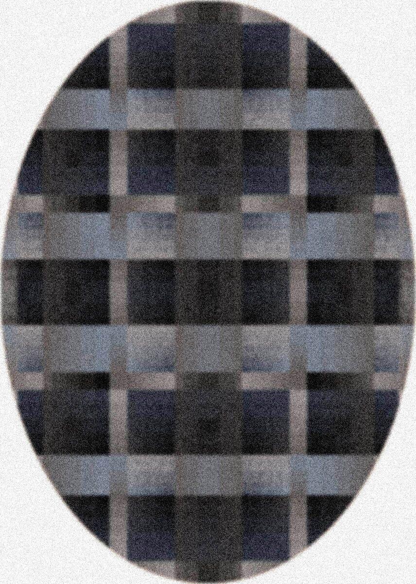 Modern Times Aura Charcoal Area Rug Rug Size: Oval 3'10