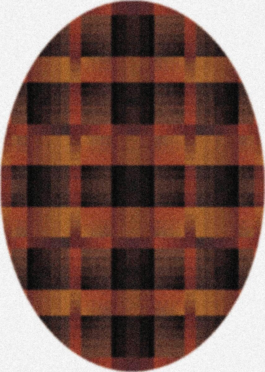Modern Times Aura Café Crème Area Rug Rug Size: Oval 3'10
