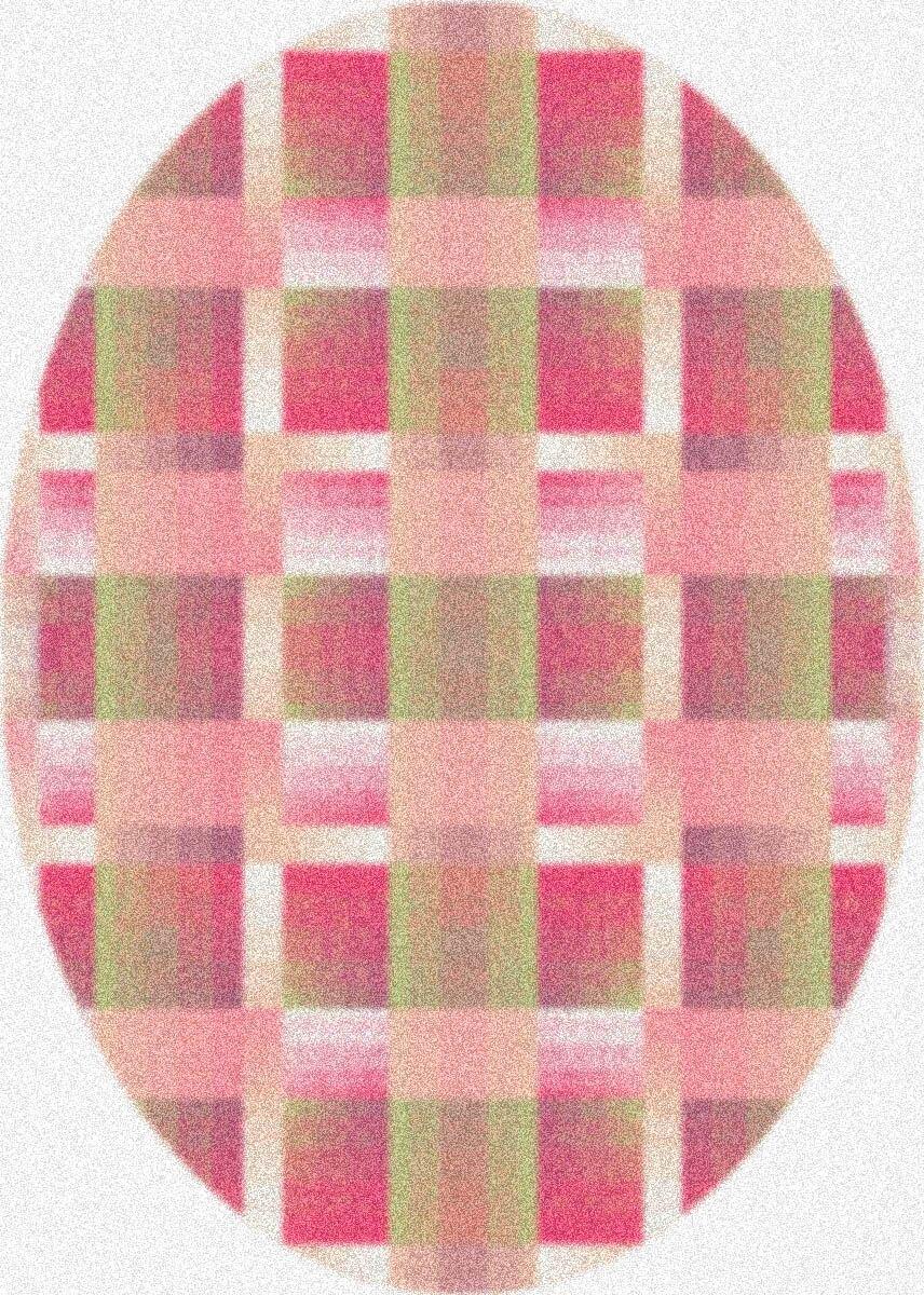 Modern Times Aura Pinky Area Rug Rug Size: Oval 3'10