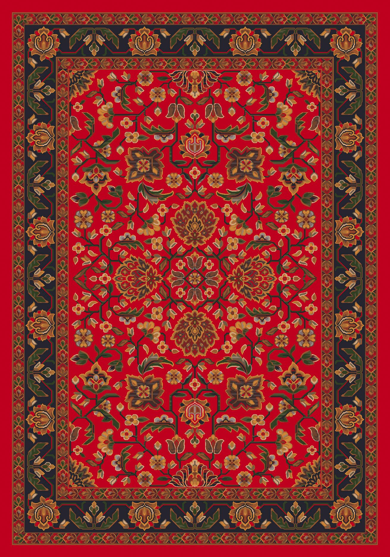 Pastiche Abadan Currant Red Rug Rug Size: Rectangle 7'8