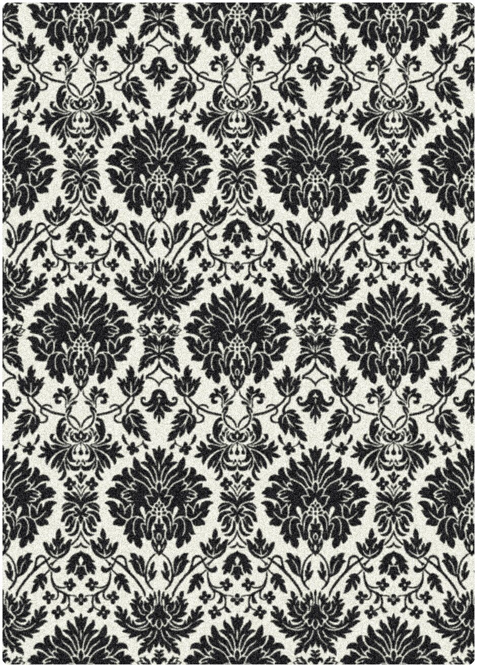 Manor Uptown Hand-Tufted Black/White Area Rug Rug Size: Rectangle 5'4