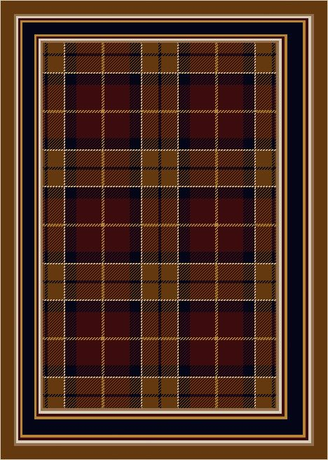 Signature Magee Tartan Dark Amber Area Rug Rug Size: Rectangle 3'10