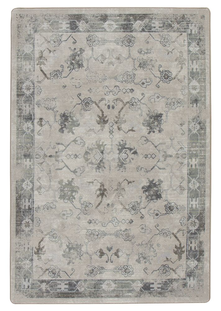 Tate Ancient Gray/Tan Area Rug Rug Size: Rectangle 5'4