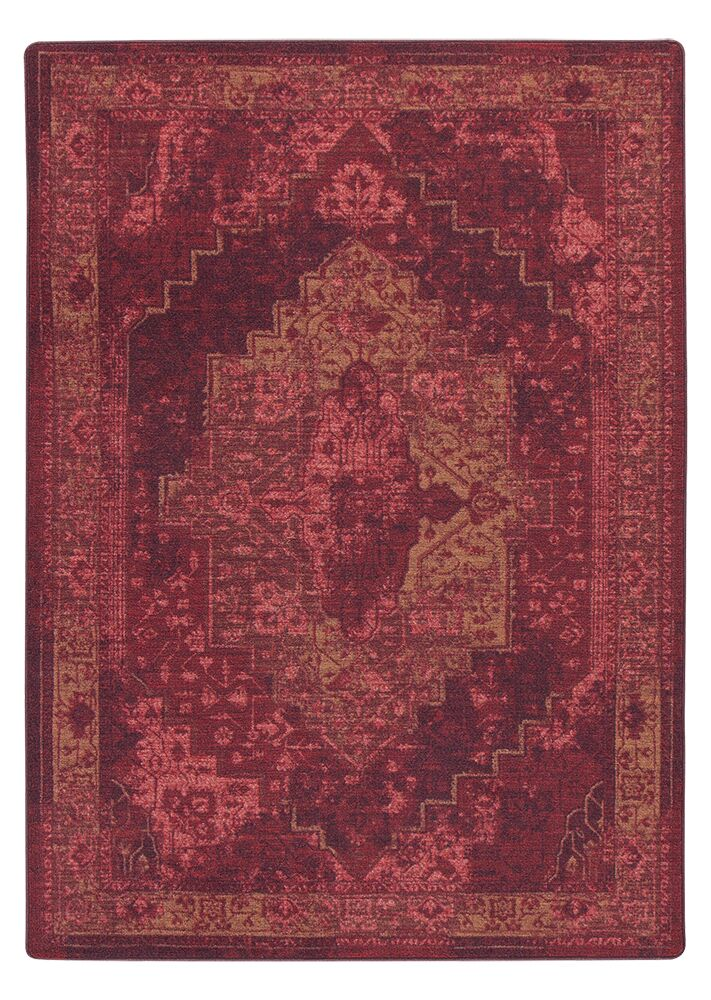Tate Sultan Red Area Rug Rug Size: Rectangle 3'10