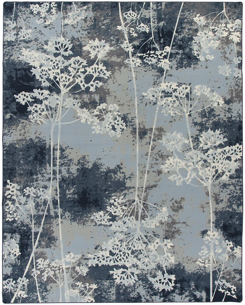 Corell Park Springs Night  Blue Area Rug Rug Size: Rectangle 10'9