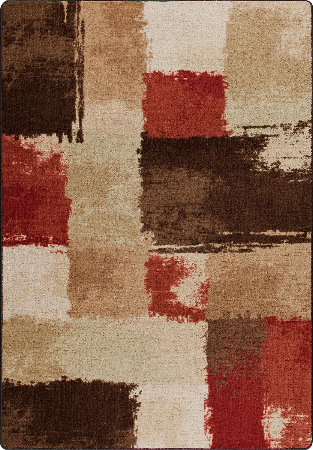 Mix and Mingle Spice Fair And Square Rug Rug Size: Runner 2'1