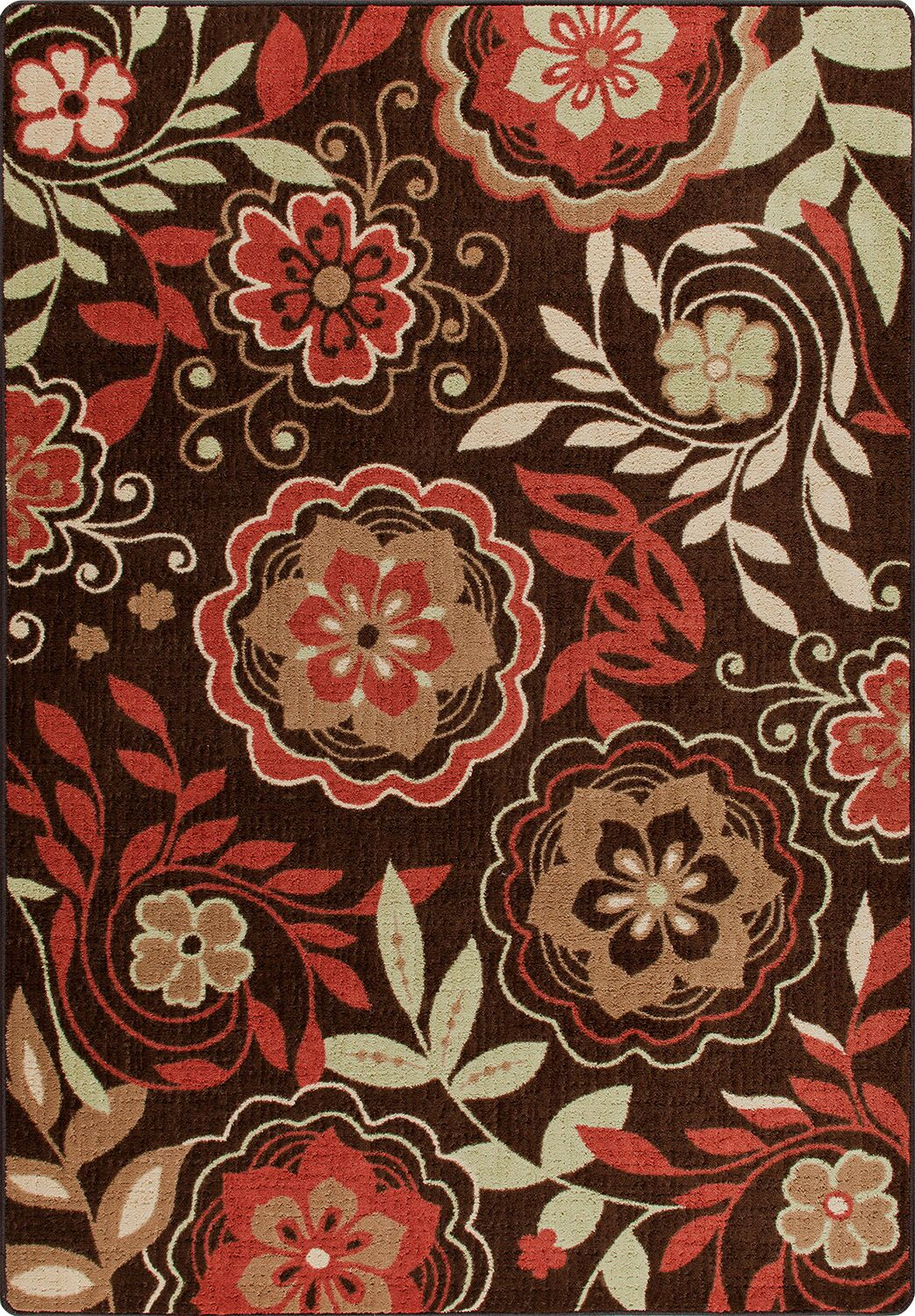 Mix and Mingle Native Red Garden Passage Rug Rug Size: Rectangle 3'10