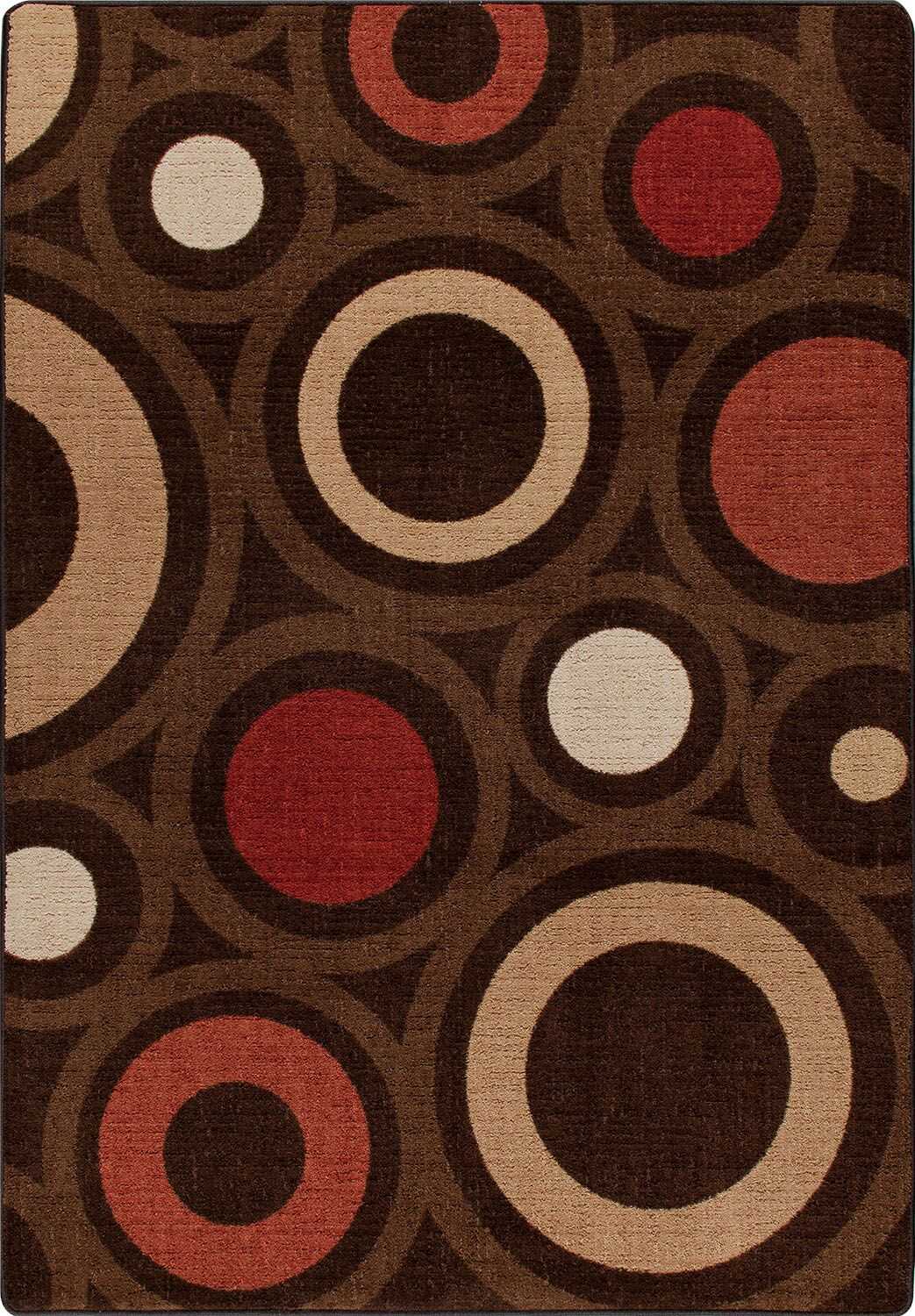 Mix and Mingle Chocolate in Focus Rug Rug Size: Rectangle 7'8