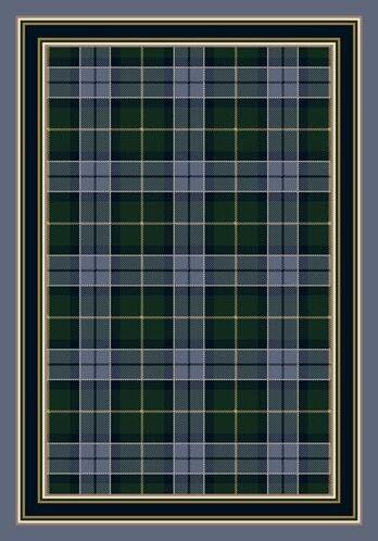 Signature Magee Tartan Lapis Area Rug Rug Size: Oval 3'10