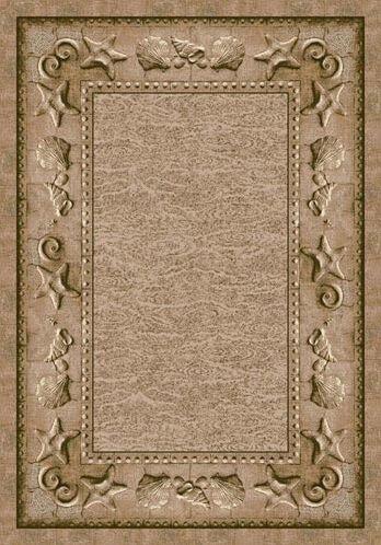 Signature Sand Castles Olive Sandstone Area Rug Rug Size: Oval 3'10