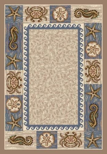 Signature Sea Life Sandstone Area Rug Rug Size: Rectangle 7'8