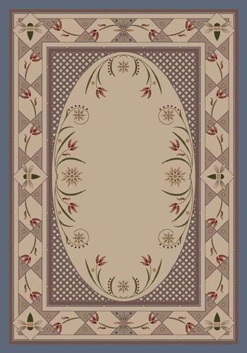 Innovation Kimberly Lapis Area Rug Rug Size: Oval 5'4