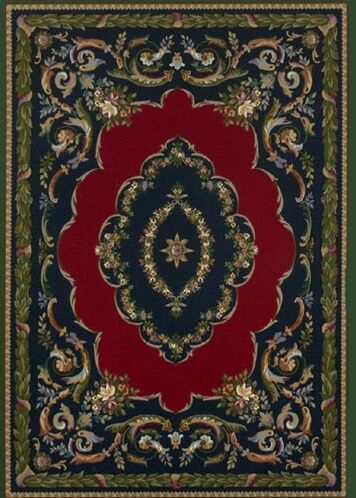 Innovation Lafayette Sapphire Emerald Area Rug Rug Size: Oval 5'4