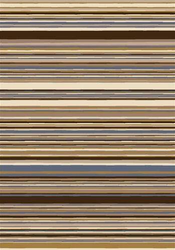 Innovation Lola Dark Amber Striped Area Rug Rug Size: Rectangle 10'9