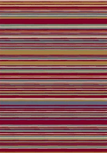 Innovation Lola Ruby Striped Area Rug Rug Size: Rectangle 10'9