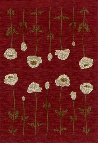 Innovation Garnet Poppy Area Rug Rug Size: Oval 3'10