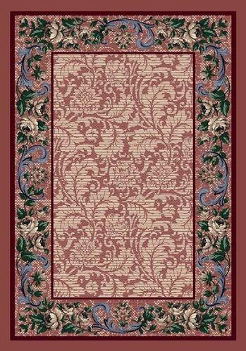 Innovation Rose Quartz Rose Damask Area Rug Rug Size: Oval 3'10