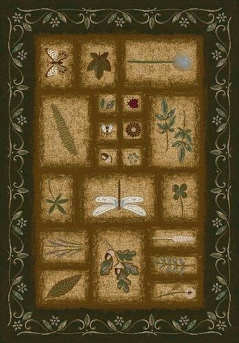 Signature Meadow Olive Area Rug Rug Size: Rectangle 10'9