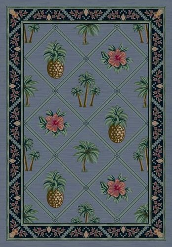 Signature Palm Bay Lapis Area Rug Rug Size: Square 7'7