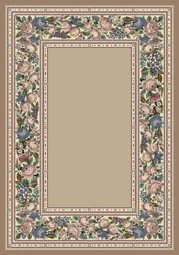Innovation Pearl Mist English Floral Area Rug Rug Size: Rectangle 5'4