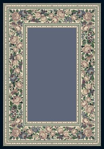 Innovation Lapis English Floral Area Rug Rug Size: Oval 5'4