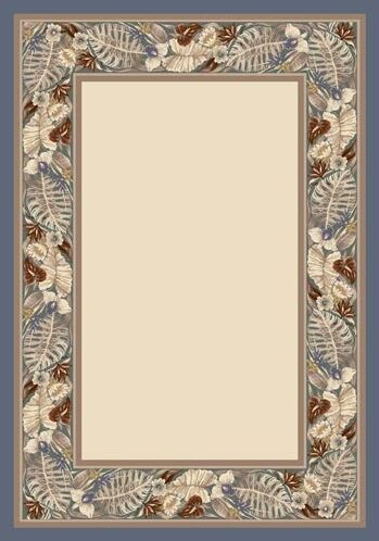 Innovationt Opal Lapis Tropical Fores Area Rug Rug Size: Square 7'7