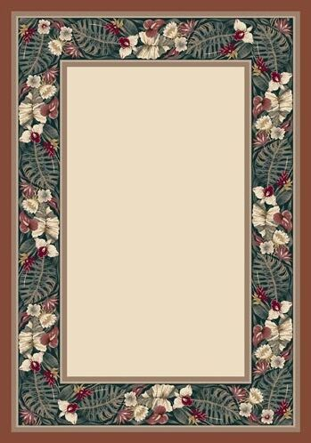 Innovation Opal Coral Tropical Forest Are Rug Rug Size: Round 7'7