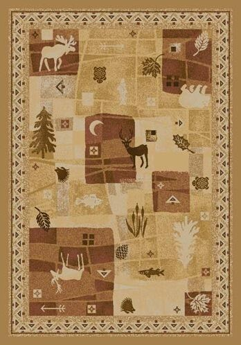 Signature Deer Trail Maize Area Rug Rug Size: Rectangle 10'9